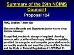 summary of the 29th ncims council i22