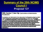 summary of the 29th ncims council i24