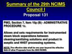 summary of the 29th ncims council i29
