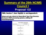 summary of the 29th ncims council i30