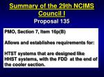 summary of the 29th ncims council i32