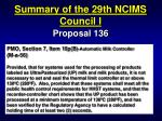 summary of the 29th ncims council i33