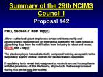 summary of the 29th ncims council i35