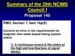 summary of the 29th ncims council i36