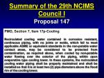 summary of the 29th ncims council i37