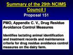 summary of the 29th ncims council i40
