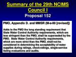 summary of the 29th ncims council i41