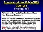 summary of the 29th ncims council i43