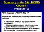 summary of the 29th ncims council i46