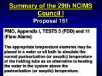 summary of the 29th ncims council i47