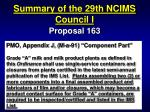 summary of the 29th ncims council i49