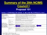 summary of the 29th ncims council i5