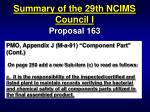 summary of the 29th ncims council i50