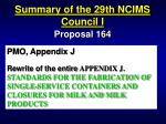 summary of the 29th ncims council i51