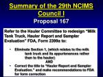 summary of the 29th ncims council i53