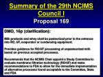summary of the 29th ncims council i55