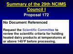 summary of the 29th ncims council i57