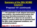 summary of the 29th ncims council i6