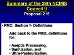 summary of the 29th ncims council ii60