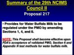 summary of the 29th ncims council ii61