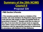 summary of the 29th ncims council ii66