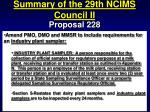 summary of the 29th ncims council ii68