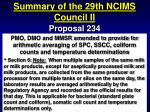summary of the 29th ncims council ii72