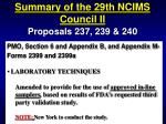 summary of the 29th ncims council ii74