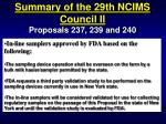 summary of the 29th ncims council ii75