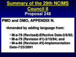 summary of the 29th ncims council ii76
