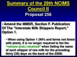 summary of the 29th ncims council ii80