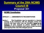 summary of the 29th ncims council iii