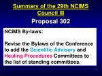 summary of the 29th ncims council iii88