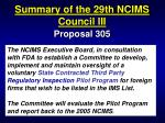 summary of the 29th ncims council iii90