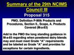 summary of the 29th ncims council iii92