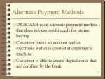 alternate payment methods