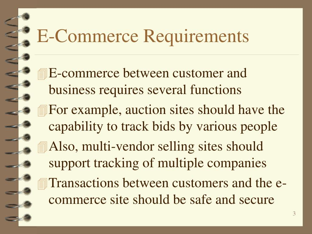 E-Commerce Requirements