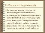 e commerce requirements