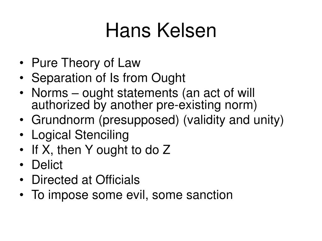 hans kelsen the pure theory of law critique Pure theory of law by hans kelsen, jurisprudence - download as word doc (doc / docx), pdf file (pdf), text file (txt) or read online.