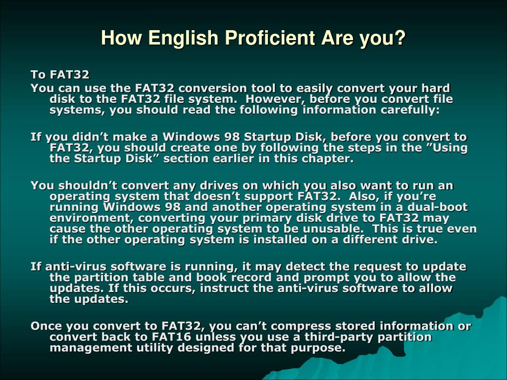How English Proficient Are you?