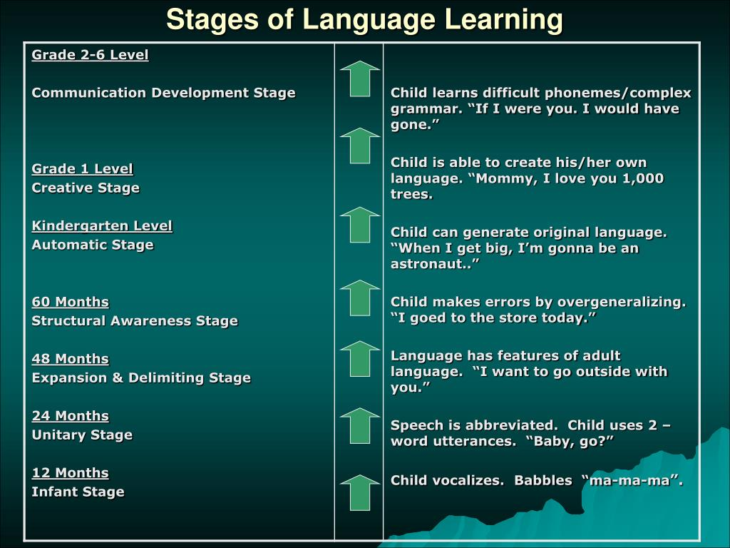Stages of Language Learning