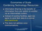 economies of scale combining technology resources25