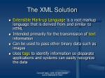 the xml solution