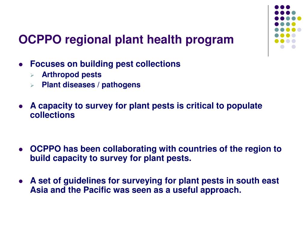 OCPPO regional plant health program