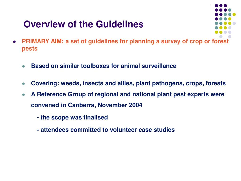 Overview of the Guidelines