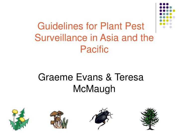 Guidelines for Plant Pest Surveillance in Asia