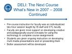deli the next course what s new in 2007 2008 continued