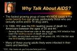 why talk about aids