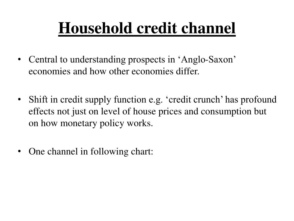 Household credit channel