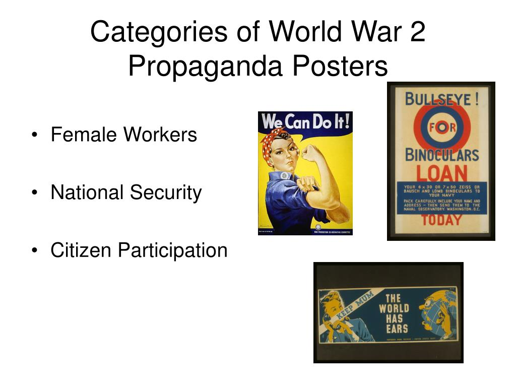 Categories of World War 2 Propaganda Posters